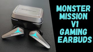 Monster Mission V1 True Wireless Gaming Earbuds