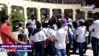 بالفيديو والصور.. كشافة 'ماري جرجس' الصغار يزورون متحف رشيد