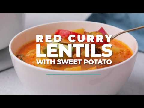 VEGAN RED LENTIL SWEET POTATO CURRY | Vegan Richa Recipes