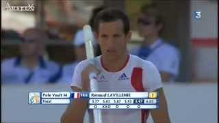 saut à la perche championnats d'Europe d'athlétisme 2012 Helsinki. Renaud Lavillenie gagne 5m97