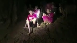 First images show Thai soccer boys found safe in cave