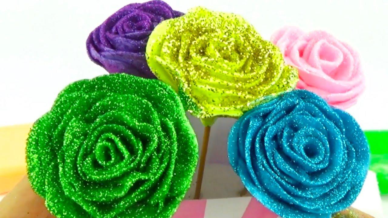 Рукоделие для детей. Лепим розы из пластилина