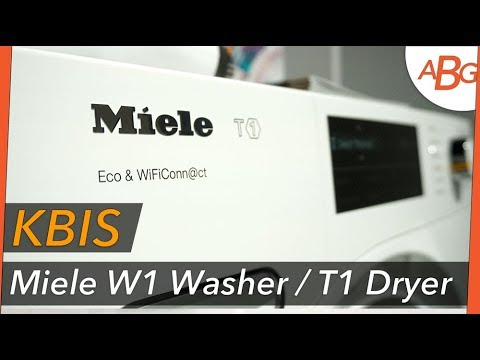 MIELE W1 WASHER AND T1 DRYER USA RELEASE - KBIS 2018