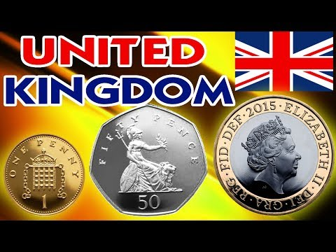 Queens Uk Pound Pence Penny Shilling