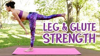 Yoga Essentials for Legs & Glutes ♥ Beginners Power Yoga with Julia, Warrior Poses, 25 Minute Class