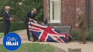Prince William unveils statue of WWII hero Major Frank Foley