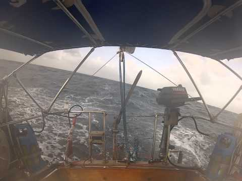 2013 Solo Sailing with wind vane the Last Leg of Circumnavigation St Helena to Trinidad
