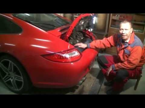 Replacing ribbed drive belt and air filters on the Porsche 997-2 Carrera S