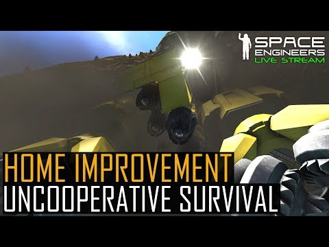 Space Engineers: Home Improvement - UNCOOPERATIVE SURVIVAL #3 (Planetary PvE Mods ft. Zombies)