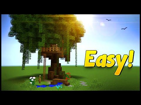 TREEHOUSE CUBBY! - Minecraft Tutorial