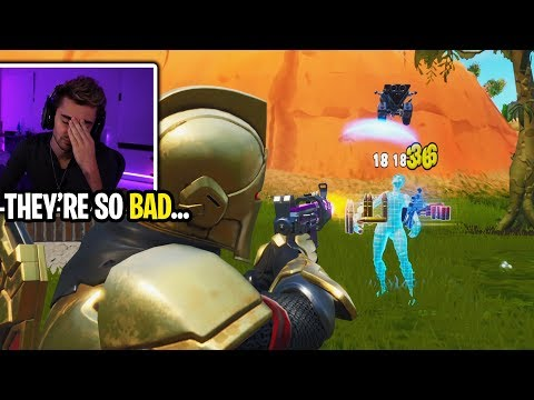 I Made A New Account And Spectated The Worst Fortnite Players I've Ever Seen...