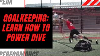 Goalkeeper Training: Learning How to Power Dive