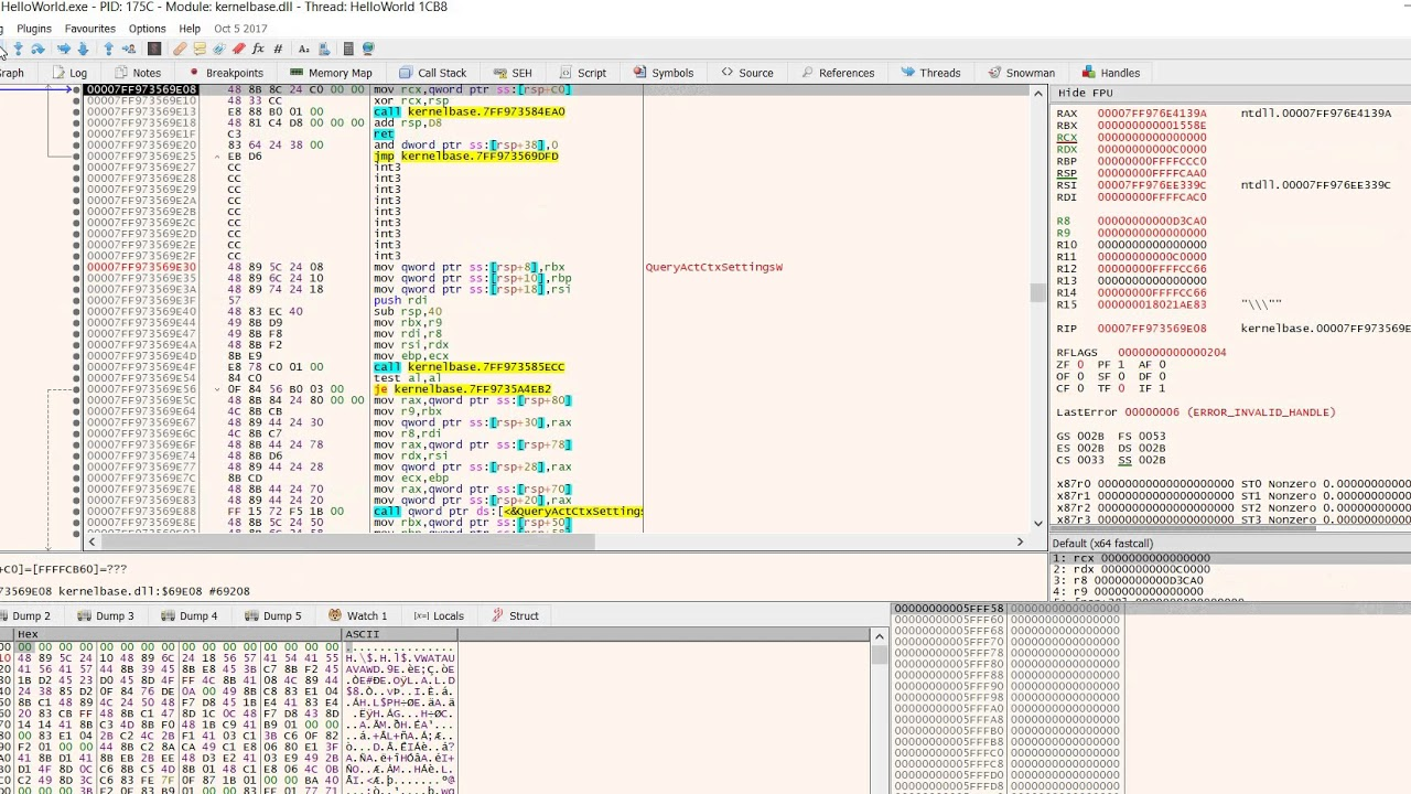 Reverse Engineering x64 Debugger- find console prints in exe