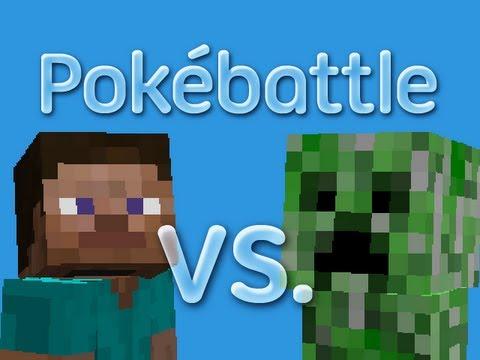 Minecraft pok battle steve vs creeper youtube - Minecraft creeper and steve ...