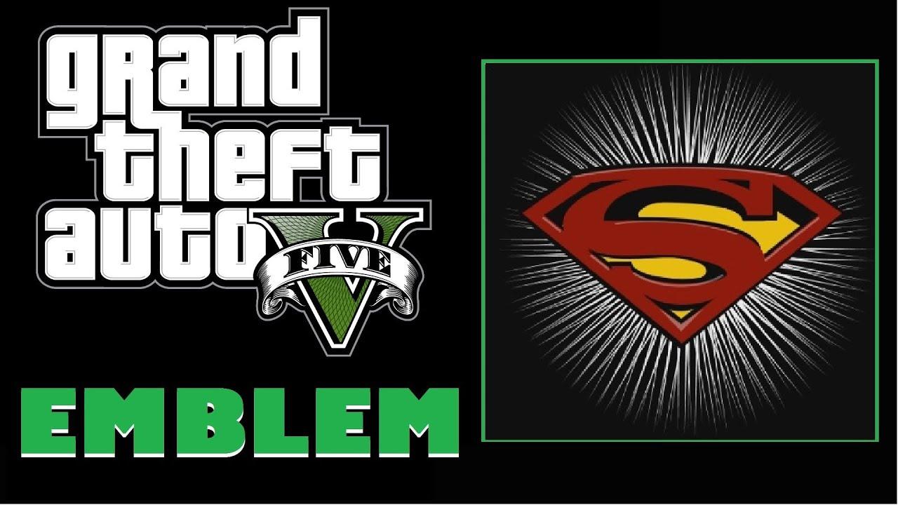 Grand Theft Auto 5 / GTA5 Superman Logo Emblem Tutorial ... Grand Theft Auto V Logo
