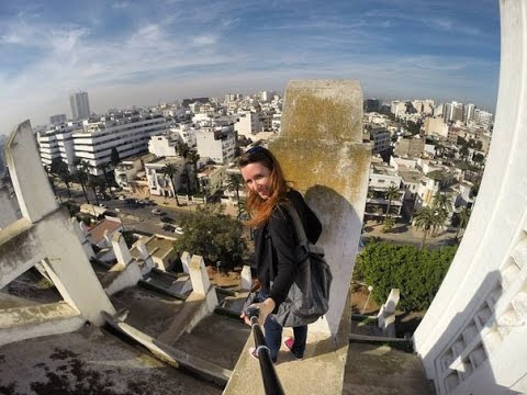 On the roof of Casablanca Cathedral (Cathedrale Sacre Coeur), Casablanca, Morocco