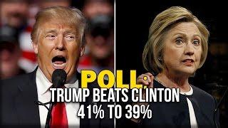 POLL: TRUMP BEATS CLINTON 41% TO 39% - Rasmussen