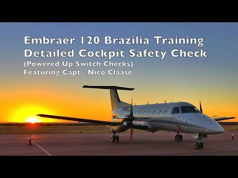 Embraer EMB 120 - Detailed Cockpit Safety Check