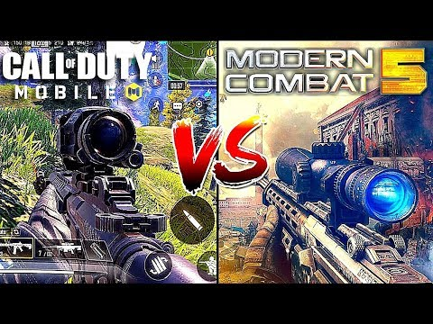 Call Of Duty Mobile Battle Royale Vs Modern Combat 5 Battle Royale In-Depth Comparision