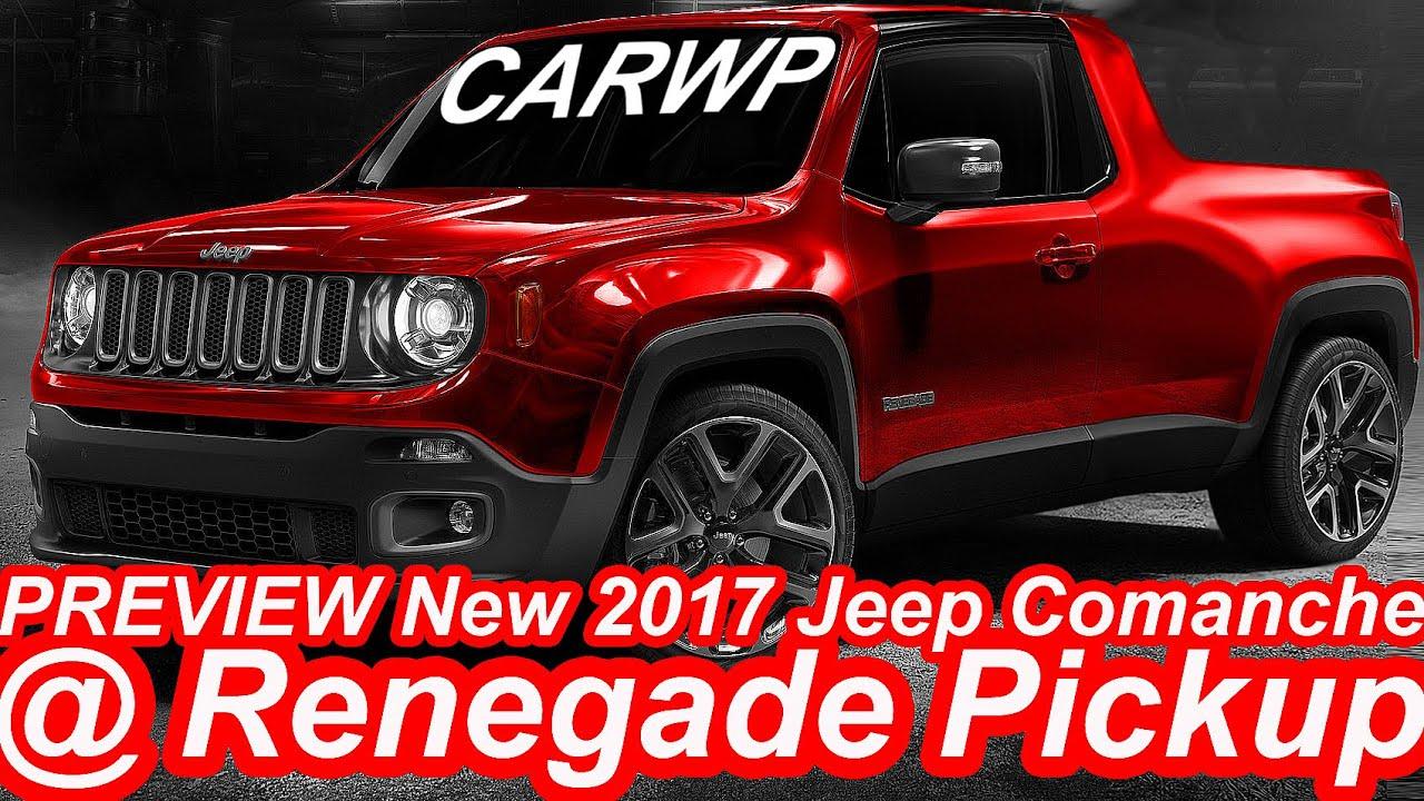 PRÉVIA Novo Jeep Comanche 2017 @ Renegade Pickup - YouTube