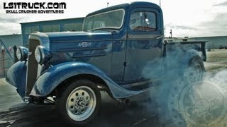 MIGHTY 6: THE FASTEST 1936 PICKUP TURBO CHARGED INLINE 6?? @ LS1TRUCK SHOOTOUT 2013