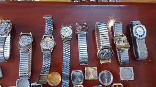 7/1/2019.Bán 8 đồng hồ Thụy sỹ cổ (lên dây, thân hợp kim bọc vàng, lacke) Toàn 0947350055