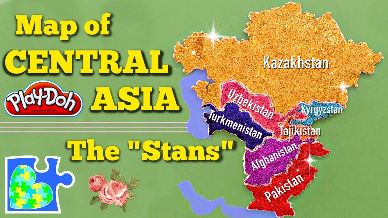 CENTRAL ASIA MAP || Learn The Stans! || World Geography for Kids ...