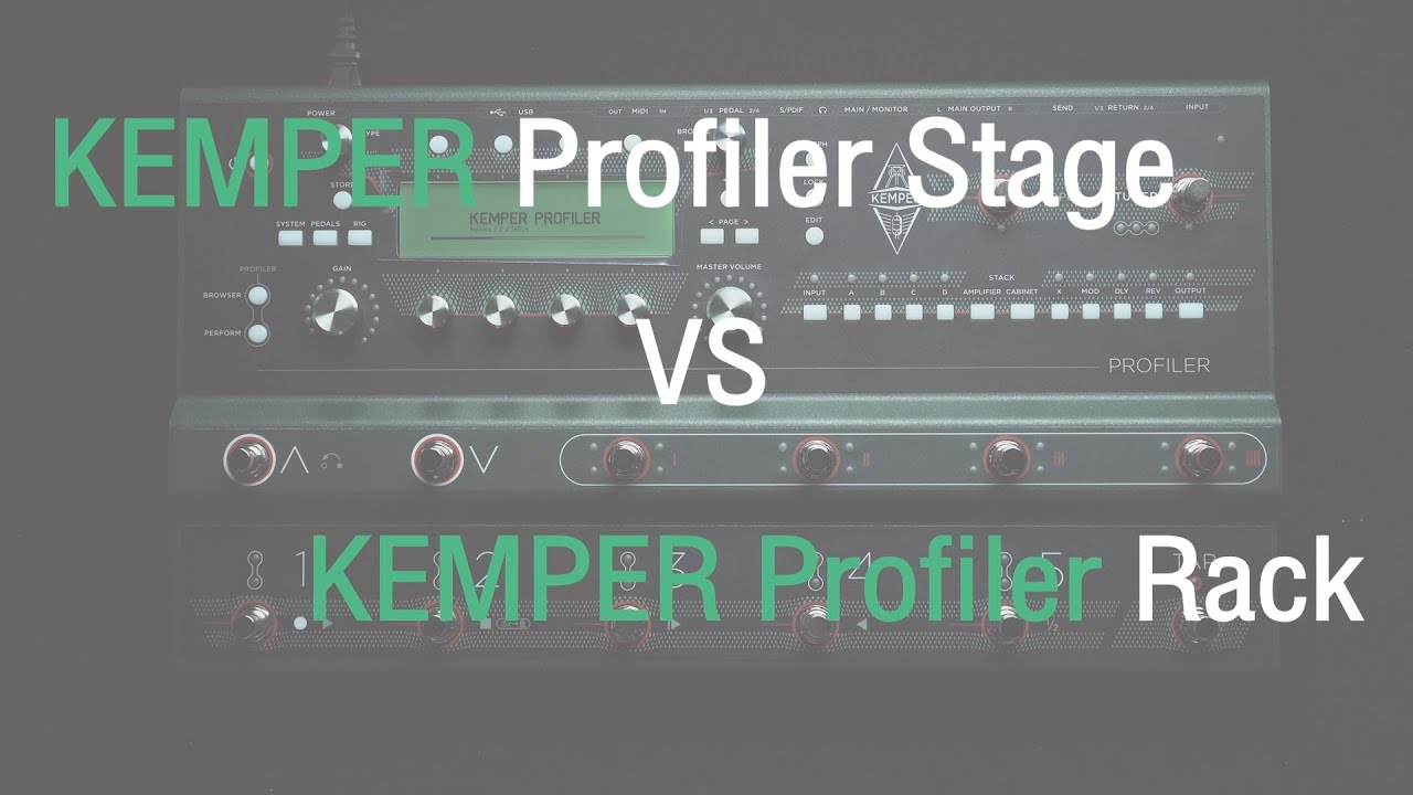 strings quick demo kemper stage vs kemper rack different