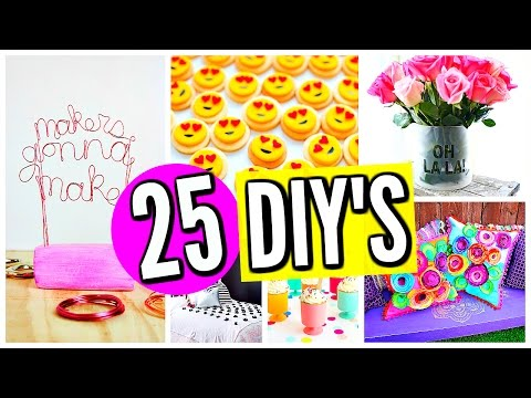 25 DIY PROJECTS YOU NEED TO TRY: DIY Room Decor & Crafts