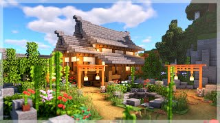 Minecraft: How to Build a Large Japanese House (Minecraft Build Tutorial)