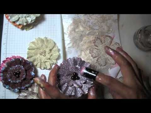 DIY:Easy to make Burlap flowers tutorial by SaCrafters