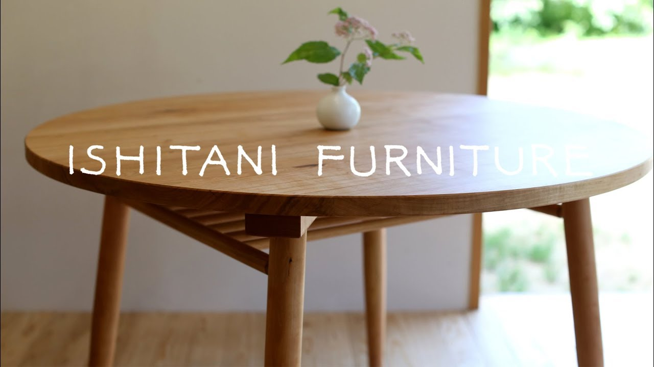 ISHITANI   Making A Cherry Round Table With Shelf