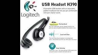 | Logitech | USB Headset H390 | Unboxing & Review |