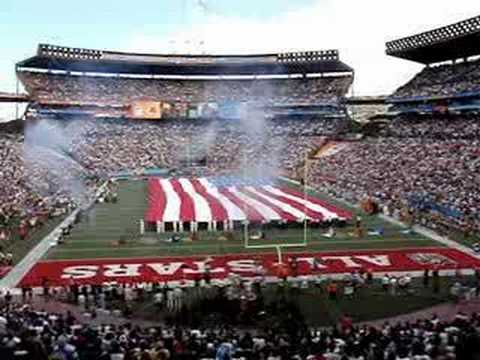 NFL Pro Bowl 2008 National Anthem Chinooks Flyover Hawaii