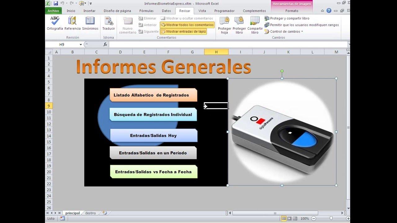 Sistema Biometrico. Plantillas de Informes Biometrico con Excel ...