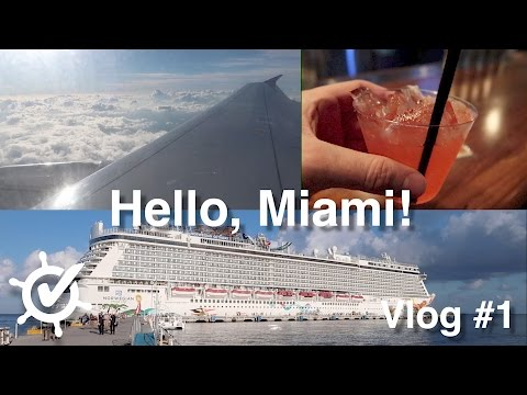 Hello, Miami! Vlog #1 Caribbean Getaway (Norwegian Getaway, 2016)