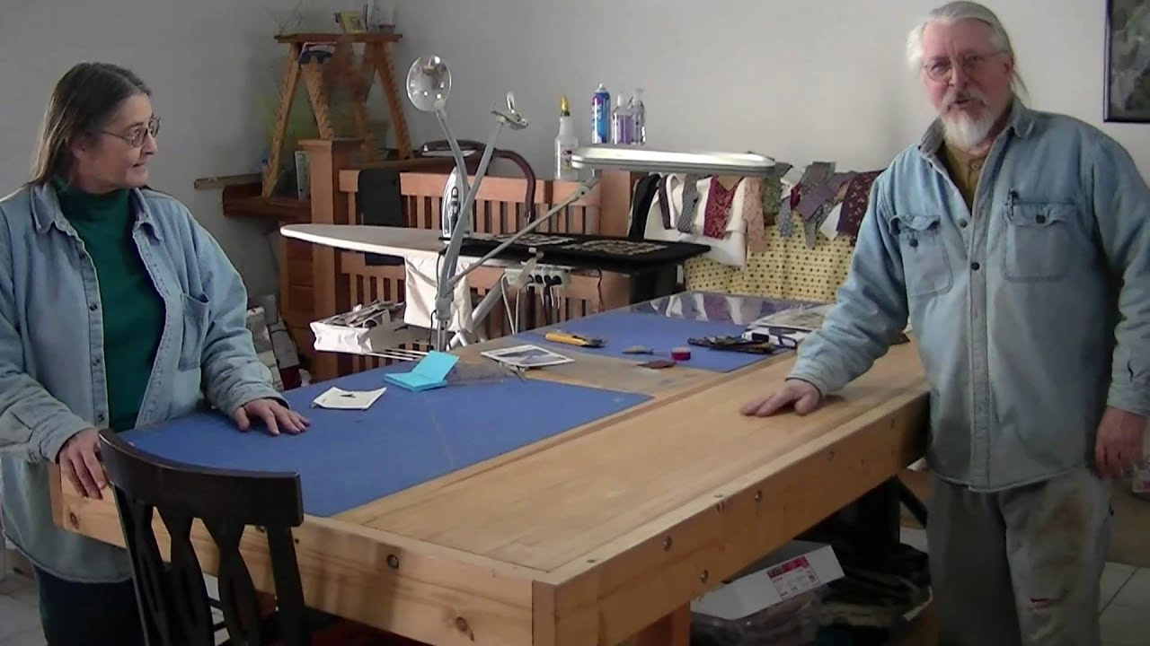 Quilting Room Design Ideas Part - 35: My Quilting Room / Setup - YouTube