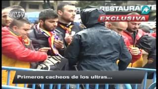 La afición del Galatasaray en Madrid.