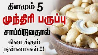 Eating 5 Cashew Nuts Daily | Amazing Health Benefits of Cashew Nuts | munthiri paruppu | Health Tips