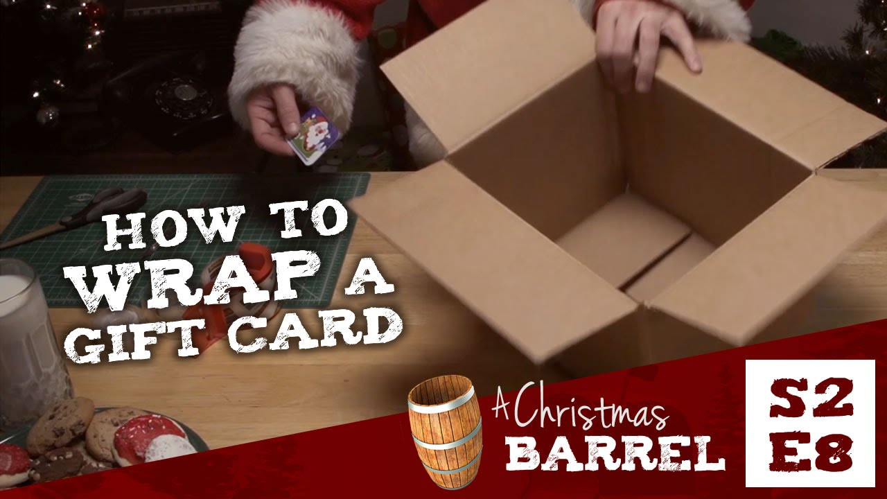 How to wrap a gift card - YouTube