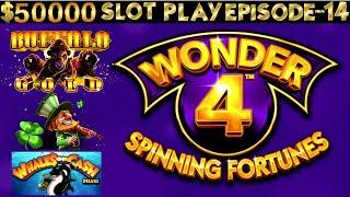 Wonder 4 Spinning Fortunes Slot Machine Max Bet Bonuses | SEASON 6 | EPISODE #14