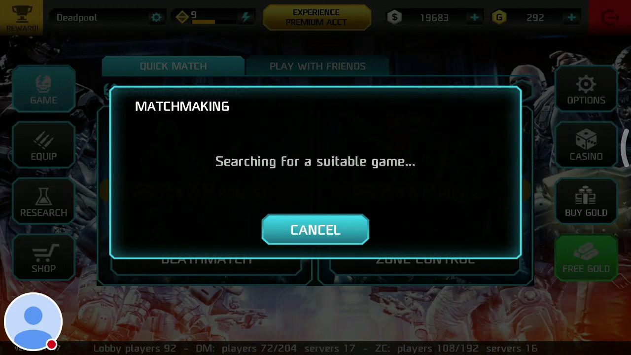 Shadowgun deadzone matchmaking server
