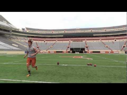 NFL Draft 2012 - Justin Tucker, Texas Kicker - 5 KOs Running Video