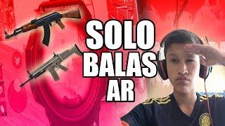 GANO UNA PARTIDA DE FREE FIRE BATTLE ROYALE CON SOLO ARMAS DE BALAS AR