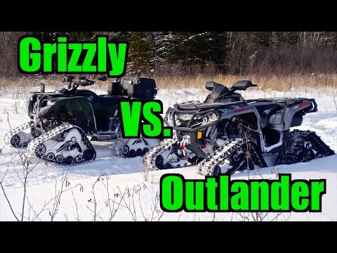 Renegade 1000 and a yamaha grizzly 660 on 31 39 outlaws doovi for Yamaha grizzly 660 tracks