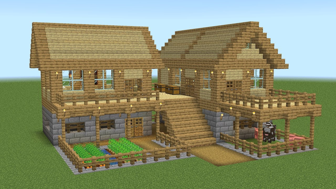 Minecraft - How to build a big survival house
