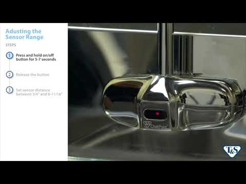 How To: Adjusting The Sensor Range On A T&S Below-Deck Sensor Faucet