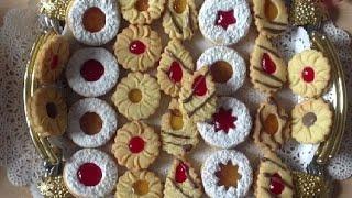 Repeat youtube video Jammie dodgers biscuits, حلوى الصابلي بالمربى ,صابلي الكونفيتير- biscuit a la confiture