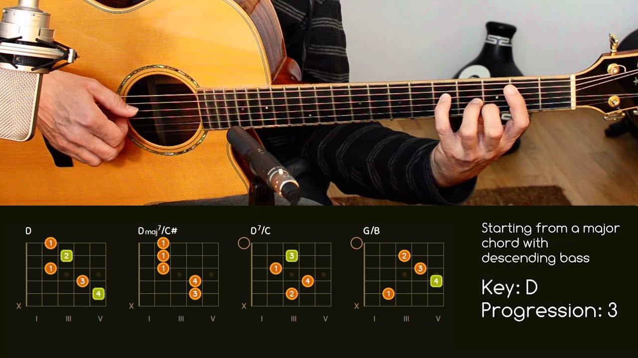 Guitar Chord Progressions With Slash Chords Descending Bass D