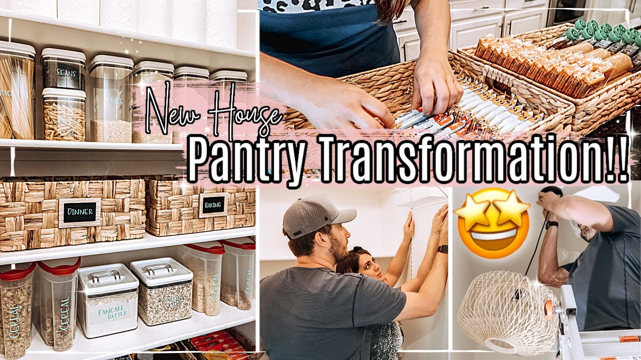 🤩 NEW HOUSE PANTRY MAKEOVER 2021 & PANTRY ORGANIZING IDEAS :: Extreme Transformation + Organization